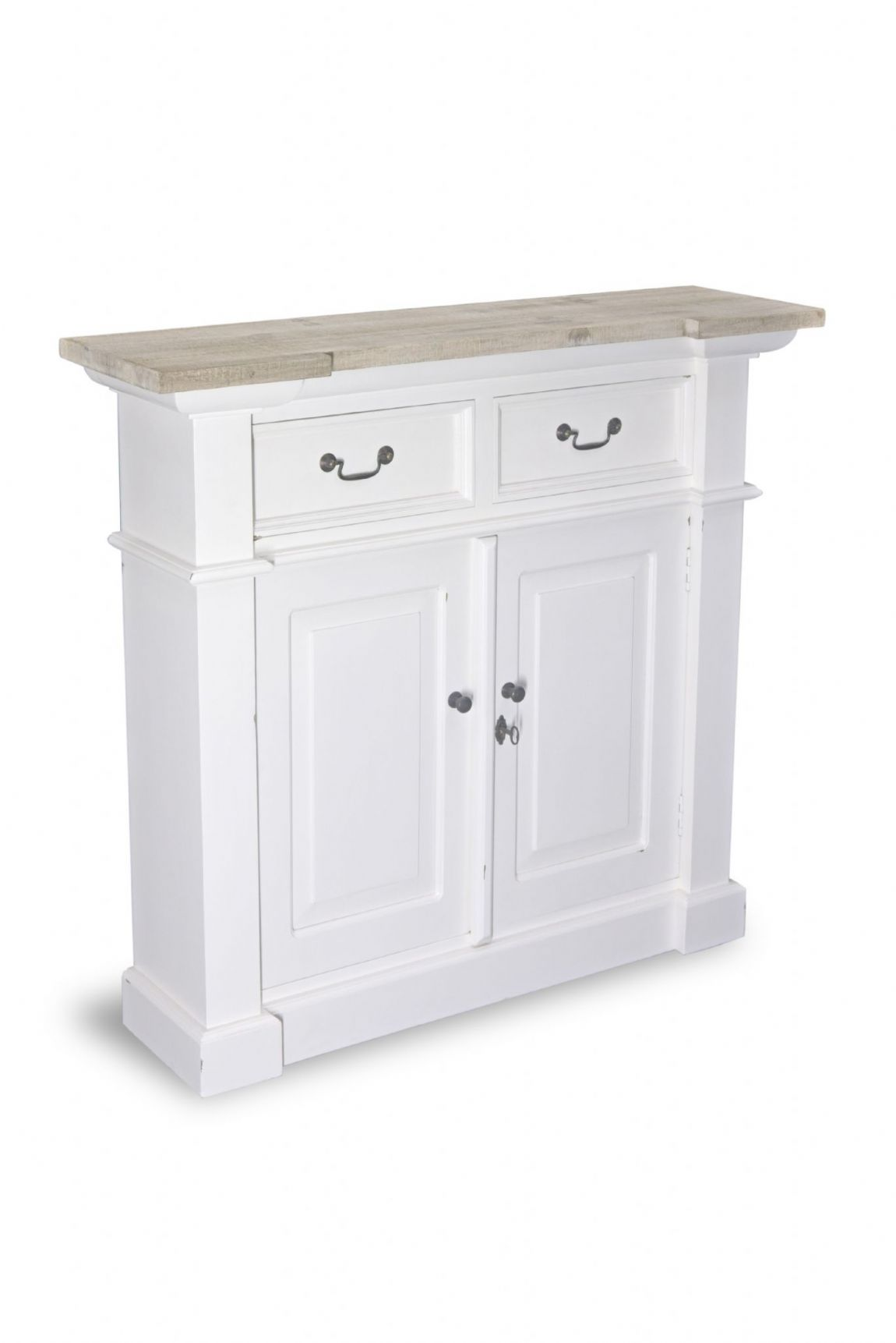 Fowey Slim Hall Cupboard - White